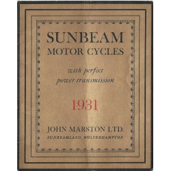 1931 Sunbeam Catalogue
