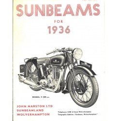 1936 Sunbeam Catalogue