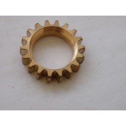 EXHAUST NUT FINNED as bronze casting