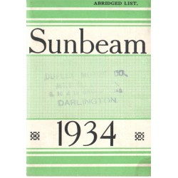 1934 Sunbeam Catalogue -...