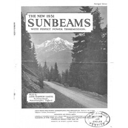 1931 Sunbeam Catalogue -...