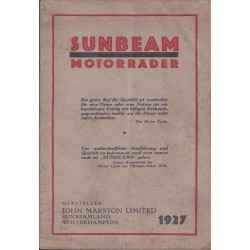 1927 Sunbeam Catalogue in...