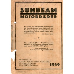 1929 Sunbeam Catalogue in...