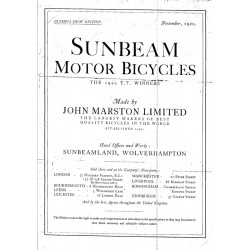 1921 Sunbeam catalogue...