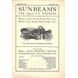 1923 Sunbeam Catalogue -...