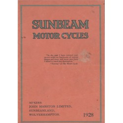 1928 Sunbeam Catalogue -...