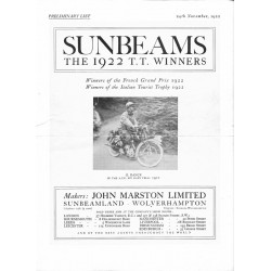 1923 Sunbeam Catalogue