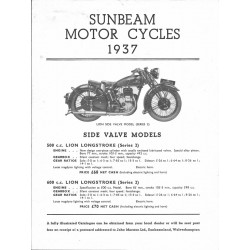 1937 Sunbeam Catalogue -...