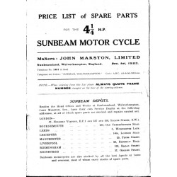 1923 Sunbeam 41/4HP Spares...