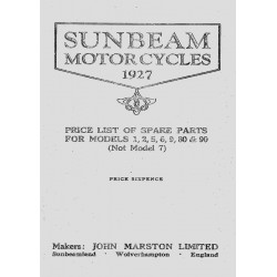 1927 Sunbeam Spares List -...