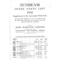 1930 Sunbeam Spares List -...