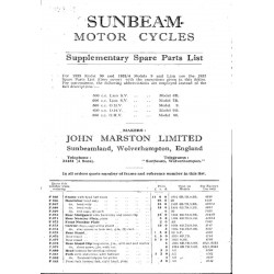 1933 Sunbeam Supp to 32...