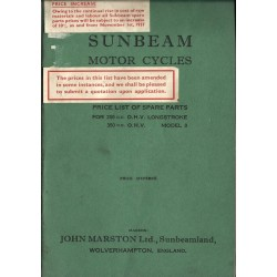 1933 Sunbeam Spares list...
