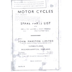 1936 Sunbeam Spares List -...