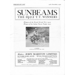 1922 Sunbeam Preminary list...
