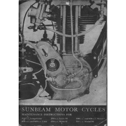 1935 Sunbeam Instruction...