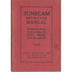 1928 Sunbeam Supplementary...