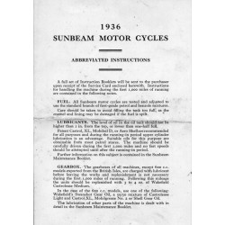 1936 Sunbeam Abbreviated...