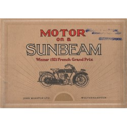1922 Sunbeam Catalogue