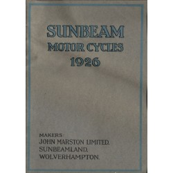 1926 Sunbeam Catalogue